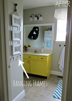 DIY Hanging Frames {Tutorial} - East Coast Creative Blog