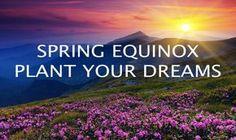 Happy Spring Equinox. Happy Super Moon Too.  Plant your dreams.