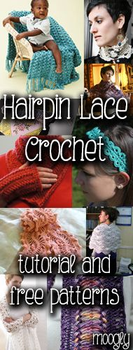 """Hairpin Lace - tutorials and free #crochet patterns!"" #crochet  Crochet Pattern"
