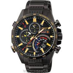 Mens Casio Edifice Bluetooth Red Bull Alarm Chronograph Watch EQB-500RBK-1AER
