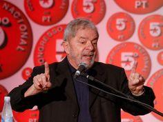 Ex-presidente Lula durante o Congresso Nacional do Partido dos Trabalhadores (PT)
