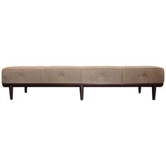 Large Bench/Daybed by T.H. Robsjohn-Gibbings | From a unique collection of antique and modern benches at http://www.1stdibs.com/furniture/seating/benches/
