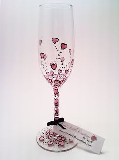 Champagne hearts....the way I painted these, they look like they are floating up like bubbles!