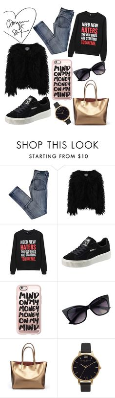 """I'm a Showoff"" by luxexox ❤ liked on Polyvore featuring Cheap Monday, Dry Lake, Puma, Casetify, Olivia Burton and luxexo"