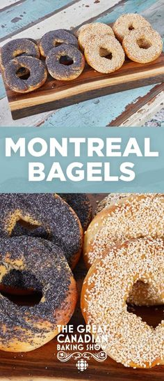 Apr 2020 - The perfect Montreal bagel is baked to a golden colour, crispy on the outside and chewy on the inside. These bagels are boiled in honey water for a beautiful blonde glaze. New Recipes, Baking Recipes, Favorite Recipes, Bread Recipes, Recipies, Montreal Bagels Recipe, Canadian Food, Canadian Recipes, Canadian Cuisine