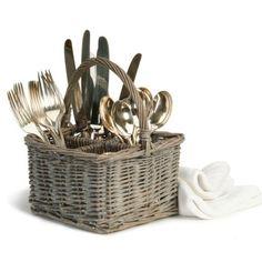 Grey Willow Cutlery Basket