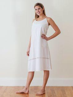 cd029417aa Ladies Kerry White Cotton Nightie