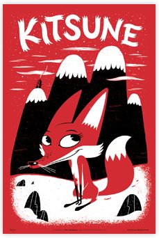 No. This is a Fox. If it was a Kitsune, there'd be more than one tail. Come on people, learn your mythical creatures.