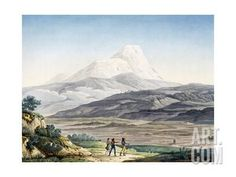 size: Giclee Print: Vulcano Cayambe in Region of Quito, Ecuador by Alexander Von Humboldt : Quito Ecuador, Heritage Foundation, Paris, Historical Photos, Giclee Print, Around The Worlds, In This Moment, Catalog, Posters