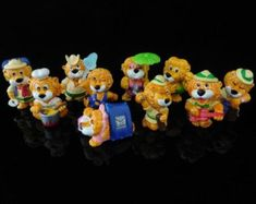 Vintage Toys, Collectible, Happy Hippos at the Beach Complete Series of 10 Figures, KINDER Surprise Figurines Advent, Egyptian Cats, Panda Party, Scrooge Mcduck, Panda Bear, Blue Bird, Vintage Toys, Childhood Memories, Hobbit