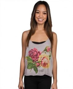 Obey - Bed Of Roses Tank Top - $22