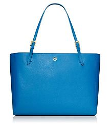 YORK BUCKLE TOTE by Tory Burch in Coastal Blue. OMG, I want this for my new work/handbag! The color and style are just perfect.