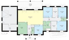 Plan Rdc - maison - Maison contemporaine 1