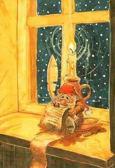 Klikk for å lukke Forest Creatures, Fantasy Creatures, Christmas Illustration, Cute Illustration, Dragons, Kobold, Elves And Fairies, Whimsical Art, Christmas Pictures