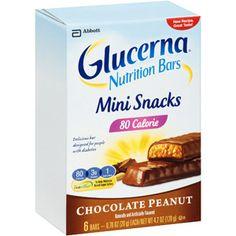 Glucerna Mini Snacks Chocolate Peanut Nutrition Bar, 0.7 oz, 6 count
