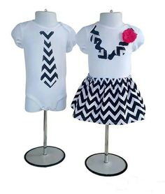Navy Blue Zig Zag Dress and Tie Set for Twins $55.00 Matching Sister Outfits, Twin Outfits, Baby Boy Outfits, Zig Zag Dress, Boy Girl Twins, M Photos, Tie Set, Brother Sister, Kids Fashion