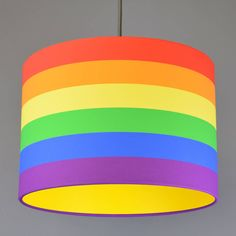 Are you interested in our RAINBOW LAMPSHADE PENDANT LAMP SHADE? With our BRIGHT KIDS CHILDREN STRIPES you need look no further.