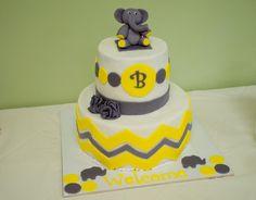 """- """"Elephant"""" Baby Shower Cake"""