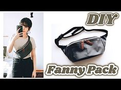 DIY Fanny Pack / Bum Bag // Cómo hacer una bolsa para el cuerpo / Costura Riñonera DIY / Sewing Tutorial ㅣ madebyaya - Das ist meine Nachbarschaft Fanny Pack Pattern, Bag Pattern Free, Stylish Fanny Pack, Leather Bum Bags, Diy Backpack, Diy Mode, Diy Couture, Diy Purse, Hip Bag