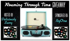 Roaming Through Time Giveaway from 1byOne #1byOne  1 Lucky Winner will Receive a Belt-Drive 3 Speed Stereo Portable Turntable from 1byOne with a RV of $77 (Winners Choice of Color ~ Turquoise or Black!)  And Now The Giveaway!!!  Giveaway Dates ~ 02/15 9 PM EST until 03/13 11:59 PM EST Entrants must be 18 years old to enter and giveaway is open to United States residents only.