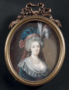 A portrait of Marie Antoinette, circa late 18th...
