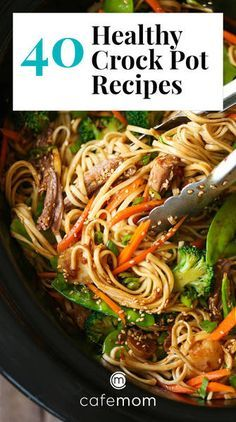 These crock pot recipes create meals that incorporate healthy ingredients into family favorites. And ther These crock pot recipes create meals that incorporate healthy ingredients into family favorites. And there'll most likely be leftovers, too! Healthy Slow Cooker, Crock Pot Slow Cooker, Crock Pot Cooking, Pressure Cooker Recipes, Healthy Crock Pot Meals, Low Calorie Crockpot Meals, Crock Pot Dump Meals, Best Crockpot Meals, Dump Dinners