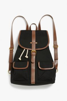 226b8d4f Monki | Bags & wallets | Canvas backpack Rucksack Bag, Backpack Bags,  Leather