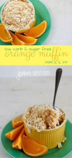 So, I used to be addicted to these terrible AWFUL delicious orange muffins, but NO MORE! This is my healthy streusel orange muffin recipe. THM S, FP or E Trim Healthy Recipes, Trim Healthy Momma, Low Carb Recipes, Vegan Recipes, Mug Recipes, Muffin Recipes, Dessert Recipes, Low Carb Sweets, Breads