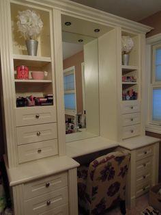 Perfect makeup station/vanity!