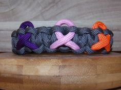 Awareness Ribbon Cobra Knot Bracelet