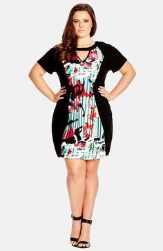City Chic 'Street Art' Tunic Dress (Plus Size) available at #Nordstrom