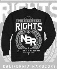 PREORDER. In Stock 12/28 No Bragging Rights Cycles Design on Black Crewneck Sweatshirt. Front Print.