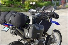 Why WR250R? Although I already own a KLR650 heavily modified for travel, I chose a Yamaha WR250R for my trip. The WR250R has a superior ...