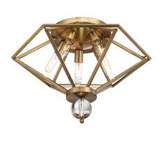 Savoy House 6-682-5-322 5-Light Flush Mount in Warm Brass