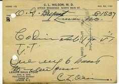 Lenoir, North Carolina | ... pharmacy prescription, 1937 Lenoir, North Carolina - Pharmaceutical