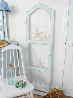 sold   Window shabby chic antique old aqua cottage beach by backporchco, $62.00