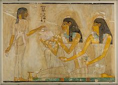 Nina de Garis Davies (1881–1965). Women at a Banquet, Tomb of Rekhmire, ca. 1479–1425 B.C. The Metropolitan Museum of Art, New York. Rogers Fund, 1930 (30.4.78)