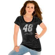 Touch by Alyssa Milano Jimmie Johnson Ladies Number Burnout Slim Fit T-Shirt - Black