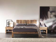 letto in legno di recupero
