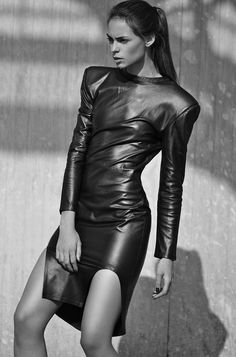 The Full Body Leather Dress No.1 is Beautifully Handcrafted #prom #promdresses trendhunter.com