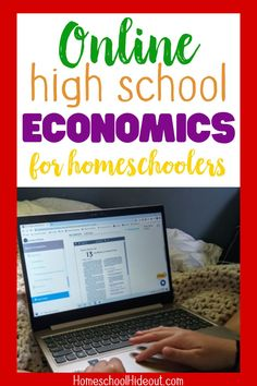 Teaching high school economics doesn't have to be scary! This looks easy and actually pretty FUN! Economics Textbook, Basic Economics, Economics Books, High School Curriculum, Homeschool Curriculum, Homeschooling, Online High School, My High School, Middle School