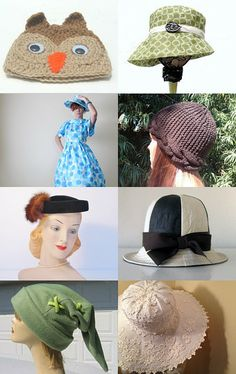 Hat-mania by Anna on Etsy--Pinned with TreasuryPin.com
