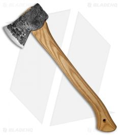 "Hoffman Blacksmithing 20"" Wasatch Axe Polished Top/Bottom - Natural Finish"