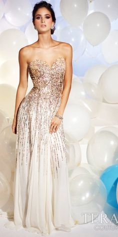 Strapless Sequin Homecoming Dresses with Golden Sparkle Ivory