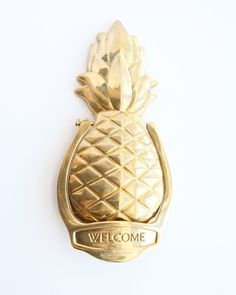 Genial Vintage Brass Pineapple Door Knocker