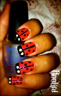 Ladybug Nail Art feat China Glaze Bad Landing