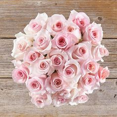 A light pink rose bouquet with lush petals is just the sweetest! Buy roses for yourself or that special someone. Grown on eco-friendly farms.