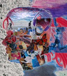 Self-portrait collage by Megan Coyle