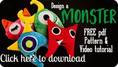 Cuddle Design-a-Monster Softy Toy by @fleecefun - make this adorable DIY plush monster toy by sewing with Cuddle Cakes Very Vibrant Dimple http://www.shannonfabrics.com/kits-precuts/precuts/cuddle-cakes-br-very-vibrant-dimple
