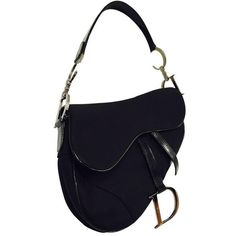 Preowned Christian Dior Black Patent And Nylon Saddle Bag ($850) ❤ liked on Polyvore featuring bags, handbags, shoulder bags, black, patent leather handbags, christian dior handbags, preowned handbags, pre owned handbags and patent purse